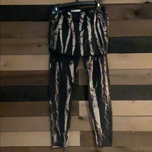 Lvrfashion Tie Dye Funky Pants with overlay